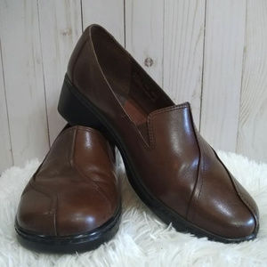Clarks Clogs Loafers Leather brown Women's size 11